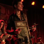 Sammo on the washboard! Johnny Cash Birthday Bash photo by Michelle Talich, (c) 2013